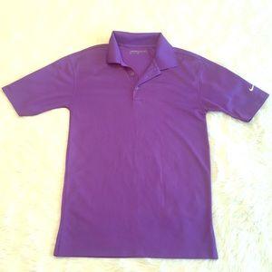 Nike Golf Dri-Fit Purple Polo Men's Size Small